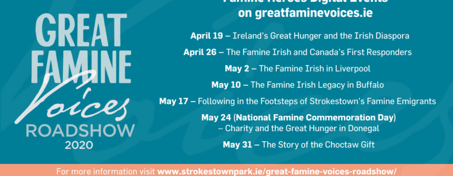 Great Famine Voices Roadshow 2020 – Virtual Tour!