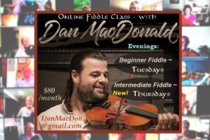 On-Line Fiddle Classes – Beginner and Intermediate – Dan MacDonald